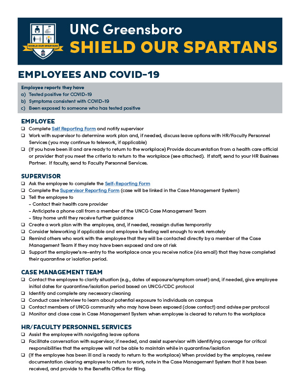Employees and COVID-19 flyer