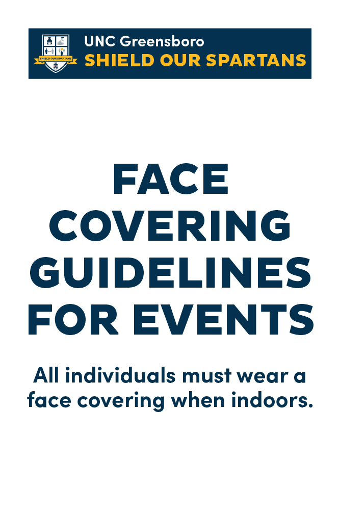 Face covering event signage